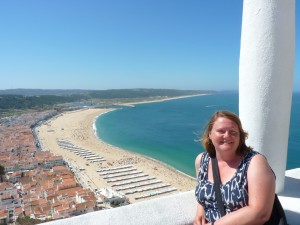 Looking down to Nazare