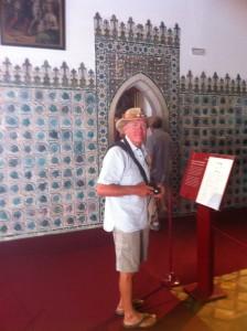 Neil inside the palace, Sintra
