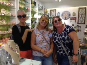 Pam, Joy, Gail shopping in Lagos