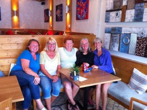 Coffee Morning - Gail, Joy, June, Pam, Jackie