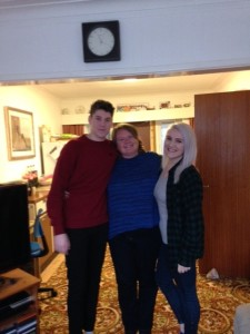 Gail with nephew Elliott and niece Claudia