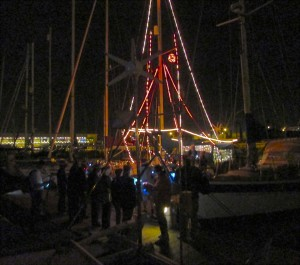 Carol Singers on the Pontoon in front of Ice Maiden