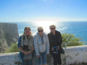 Me, Mum and Barbs at Cape St Vincent