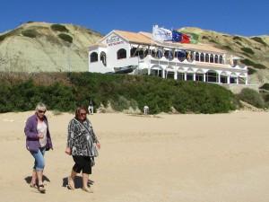 Mum and I on Sagres beach