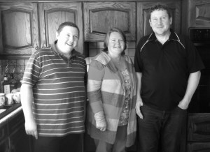 Gavin, Gail and Gary. Easter 2016