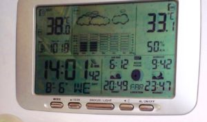 38º outside 33º inside. Oh I like it warm ....