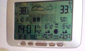 38º outside 33º inside. Oh I like it warm ....