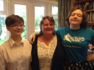 me with 2 Goddaughters Laurel and Rachael