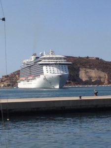 Royal Princess heading into Cartagena