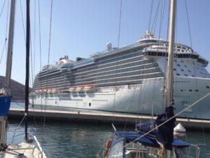 Royal Princess in Cartagena Yacht Port