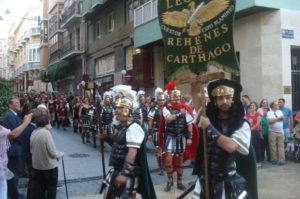 Carthaginians marching into town (photo, Pat Pride)