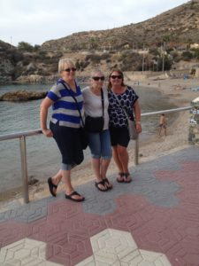 Barbs, Mum & Me at Cala Cortina